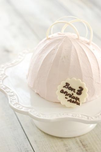 ピンクのドームケーキ.jpg